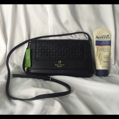 NEW Kate Spade Greer - 3 Days Left! Beautiful leather cutout pattern overlay  Resilient black pebbled leather  Interior zippered pocket, and an open interior pocket  Magnetic closure  Adjustable leather strap to wear as a shoulder bag or crossbody  Current season  Retails for $228.  PRICE IS FIRM!!!  NO OFFERS!!!  NO TRADES!!!  Please look at COMMENTS about the PRICE!  I will be returning this bag on Friday, April 22nd for a full refund, so, if you want it, act fast! kate spade Bags Shoulder…