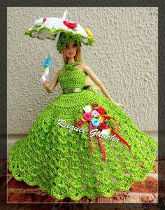 Mesmerizing Crochet an Amigurumi Rabbit Ideas. Lovely Crochet an Amigurumi Rabbit Ideas. Crochet Doll Dress, Black Crochet Dress, Crochet Barbie Clothes, Crochet Dresses, Barbie Gowns, Barbie Dress, Barbie Doll, Doll Dress Patterns, Beautiful Crochet