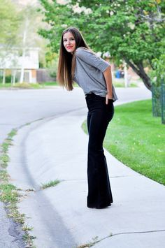 C: Oversized pants into bell bottoms tutorial