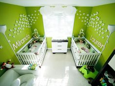 Not sure how you'll cram two cribs and double the stuff into a shared space? Get inspired by these 12 beautiful twin nurseries.