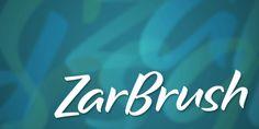 Zar Brush font download
