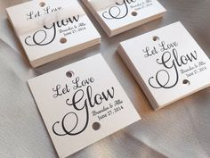 Let Love Glow Tag Glow Stick Tags 150 pieces  Wedding by RecipeBox