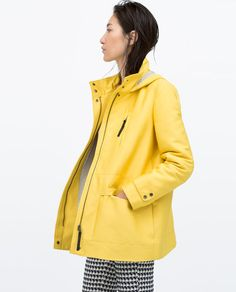 This would even be great for to and from gym and taking walks with the pup in Spring! HOODED PARKA WITH CHECK LINING