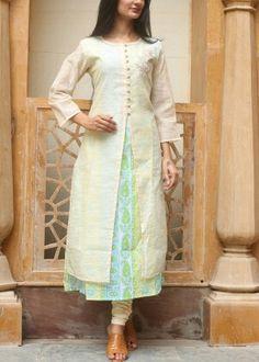 Beige cotton tunic #vasansi #jaipur #vasansijaipur #shopnow http://www.vasansi.com/casual/tunic/