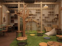Pet Cafe, Cat Kennel, Cat Hotel, Dog Spaces, Shelter Design, Cat Cages, Pet Boarding, Cat Playground, Animal Room