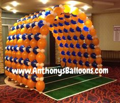 Football Balloon Tunnel - Decoration For Home Homecoming Decorations, Banquet Decorations, Balloon Decorations, Homecoming Ideas, Football Banquet, Football Themes, Football Balloons, Halloween Carnival, Carnival Ideas