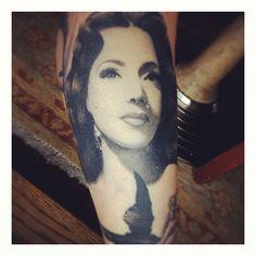 Portrait of Maria Victoria. #mytattoo #MexicanCinemaIcon http://instagr.am/p/KVQlsUFSQa/#
