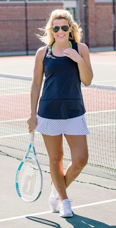 Polka Dot Tennis Skirt by Dona Jo