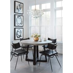 """Cyrus 48"""" Round Dining Table - Full Circle - Dining Room - Room Ideas"""