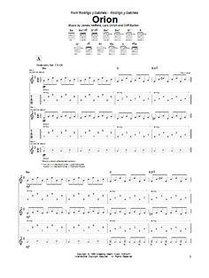 Metallica: Orion - Partition Tablature Guitare - Plus de 70.000 partitions à imprimer !