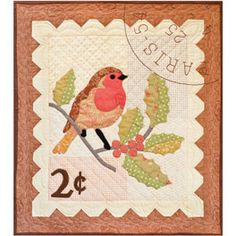 Winter Robin Quilt Pattern - Clotilde  This is a pretty winter quilt, not just for Christmas.  Love it!