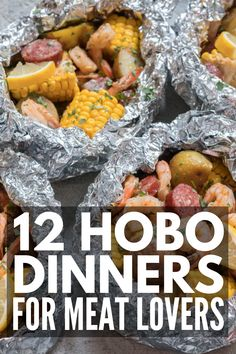 No Fuss Dinners: 36 Mess-Free Foil Pack Meals You'll Love 12 hobo dinners for meat lovers Tin Foil Dinners, Foil Packet Dinners, Foil Pack Meals, Campfire Desserts, Campfire Food, Campfire Breakfast, Camping Menu, Camping Cooking, Camping Recipes