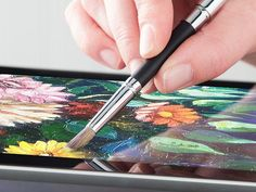 Stylus for Artists by SensuSensu  Use a digital paintbrush that feels and works like a traditional one. Or turn your favorite pen or pencil into a stylus. Elegant, simply awesome tools for touchscreens.