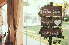 Carteles para la decoración de la boda
