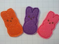 Felt peeps!  Easter barrettes to be made