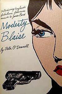 Cover of the first U.S. printing of the Modesty Blaise novel