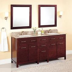 1000 Images About Bathroom Ideas On Pinterest Double Sink Vanity Hair Dryer Holder And