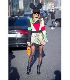@Who What Wear - WHO: Anna Dello Russo WHAT: Photographed outside the Kenzo F/W 14 show. ​WEAR: Comme des Garcons hat; Fausto Pugsli dress from the F/W 14 collection.