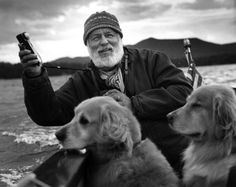 Bruce Webber with some of his dogs