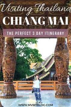The Perfect 3 Day Itinerary for Chiang Mai, Thailand, including an elephant sanctuary, Thai cooking class, temples, and restaurant/bar recommendations.