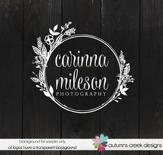 Logo Design photography logos Floral Logo Twig by autumnscreek
