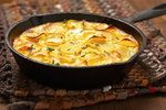 Potato Gratin With Onions and Sage Recipe by Natalie Lobel Sage Recipes, Beef Recipes, Cooking Recipes, Onion Casserole, Casserole Recipes, Weeknight Meals, Easy Meals, Main Dishes, Side Dishes