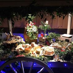 Yesterday's #cheese-cart at Levi and John's #wedding - our new cart is becoming so useful: popcorn cart; cake cart; cheese cart you name it...
