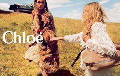 Top models Sasha Pivovarova and Andreea Diaconu are enlisted by luxury fashion label Chloe for the ad campaign of its Fall/Winter 2014 c. Sasha Pivovarova, Edie Campbell, Tim Walker, Fashion News, Fashion Models, Fashion Brands, Fashion Killa, Fashion Online, Cara Delevingne