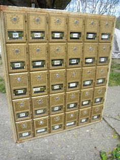 30 bronze brass door POSTAL POST OFFICE mail box boxes by score571, $225.00