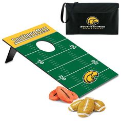 Tailgate party or backyard barbecue the Southern Miss Bean Bag Toss Game keeps the fun rolling!