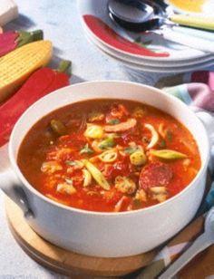 Das Rezept für Pizza-Suppe und weitere kostenlose Rezepte auf LECKER.de