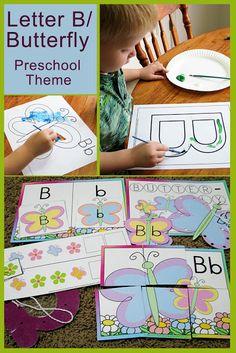 Letter B as in Butterfly Preschool Theme - Mommys Little Helper