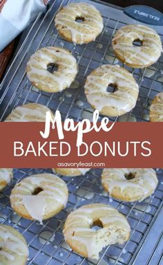 Making homemade donuts is lots of fun! Get a donut pan and try these Maple Baked Donuts. They are baked instead of fried and taste like a pancake in donut form. The post Maple Baked Donuts appeared first on Orchid Dessert. Churros, Donuts Beignets, Baked Doughnuts, Donut Pan Recipe, Baked Donut Recipes, Baking Recipes, Cake Recipes, Breakfast And Brunch, Brunch Recipes