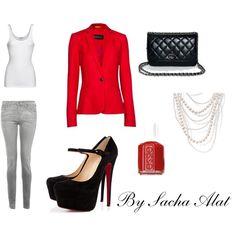 red blazer Outfit  #MillionDollarShoppersLiz