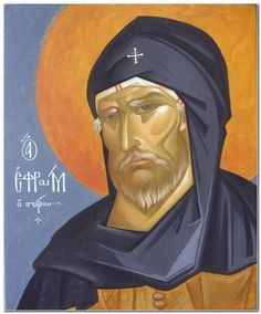 St. Ephraim Icon Clothing, Russian Icons, Best Icons, Byzantine Icons, Orthodox Icons, Saints, Contemporary, Movie Posters, Painting