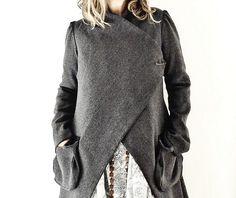 jacket, wool tweed ~ 13threads etsy