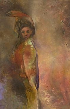"""Original Steve Binetti painting. Title: """"The Dilemma I"""".  Oil on canvas.  Signed on the backside """"Steve Binetti The Dilemma I 2004"""". Size: 100 x 65 x 4 cm.  (please note: dimensions are given in centimeters) Weight: ca. 1900 gr. Shipping weight ca. 3600 gr. Condition: perfect."""