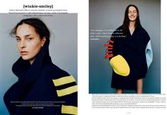'Winkie-Smiley' Julia Bergshoeff by Matteo Montanari for i-D Pre-Fall 2014