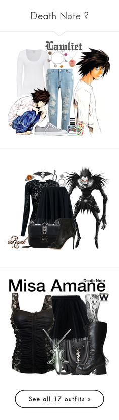"""""""Death Note 💀"""" by la-yuki ❤ liked on Polyvore featuring Majestic, Dylan's Candy Bar, Balenciaga, Tiny Hands, Converse, deathnote, anime, lawliet, animecosplay and BaubleBar"""