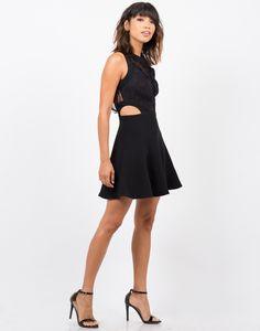 Lacey Open Back Dress - Black Dress - Womens Dresses – Dresses – 2020AVE