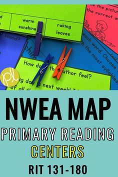 Are your students taking the NWEA MAP test for Primary Reading? These hands-on centers and games make test prep much more fun and effective! This low-prep NWEA centers are aligned with RIT Band ranges 131-180 for Primary Reading. Even if you don't use map testing, they are a great addition to your small groups and literacy centers! From Positively Learning #nweamap #nweareading