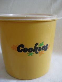 Vintage Eagle Tupperware Cookie Jar by VintageByThePound on Etsy, $10.00