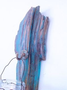 Driftwood Lantern Candle Holder or Hanger Driftwood by NoaParis