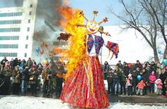 'Maslenitsa' - Perhaps the most cheerful holiday in Russia is the Pancake week. The rituals of Maslenitsa are very unusual and interesting because they combine the end of the winter holiday rituals and the opening of new spring festivals and ceremonies, which were to promote a rich harvest. Maslenitsa is celebrated during the week preceding spring. Every day of Maslenitsa was devoted to special rituals.