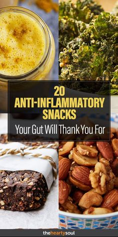 Put out the fire: The best snacks to eliminate inflammation! snacks delicious must eat weightloss healthy turmeric brownies kale almonds nuts 347973508708163605 Anti Inflammatory Foods List, Anti Inflammatory Smoothie, Healthy Snacks, Healthy Eating, Healthy Recipes, Healthy Cookies, Vegan Snacks, Liver Healthy Foods, Gout Recipes