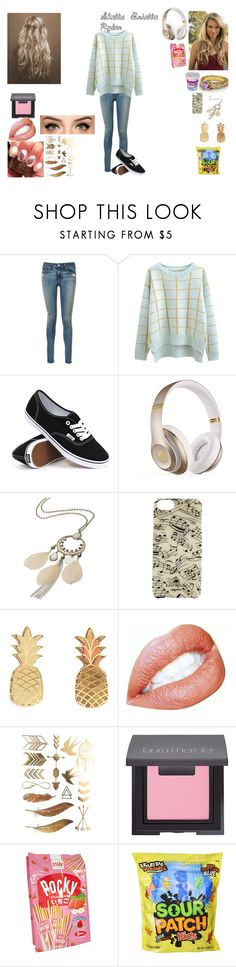 """""""Stella Brielle Ryder:casual (Decendants story OC)"""" by sunshinekg ❤ liked on Polyvore featuring beauty, rag & bone, Chicnova Fashion, Vans, Beats by Dr. Dre, maurices, Kate Spade, Vinca, Laura Mercier and Cotton Candy"""