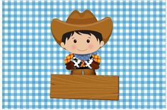 Cartão Kit Fazendinha Menino Cowgirl Party, Cowboy And Cowgirl, Farm Birthday, Farm Theme, Baby Shower, Charlie Brown, Kit, Cartoon, Fictional Characters
