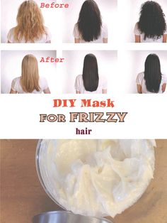 This DIY masks for frizzy hair help both to prevent and to combat the frizz resulting from the bad weather elements or from other bad habits. Also, another cause may be genetic, dating back to a grandmother or a distant aunt.Next to DIY Masks for frizzy hair, there are other small steps to be taken against frizzy hair: