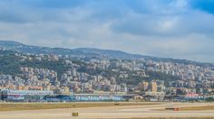 Beirut Lebanon, view from the airport