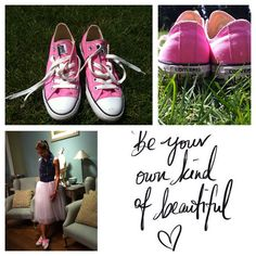 White tutu by iki and PINK converse ®